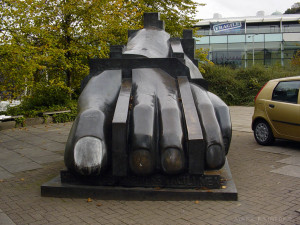 Paolozzi Sculpture Foot