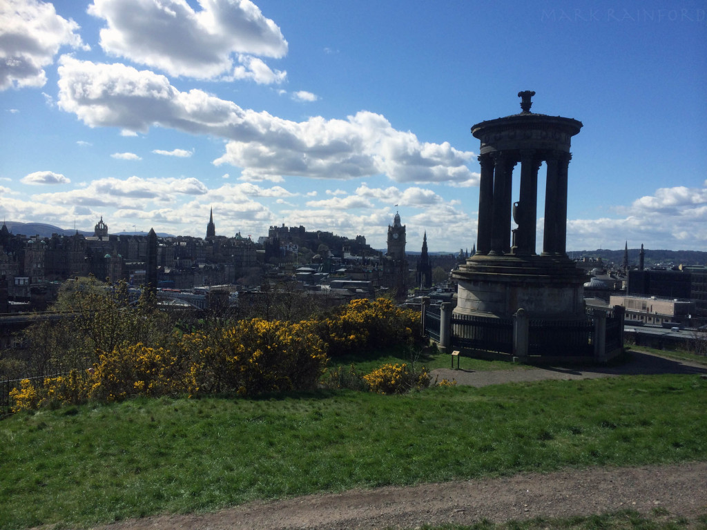 Douglas Stewart Monument, With The Edinburgh Skyline