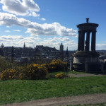 Dugald Stewart Monument, With The Edinburgh Skyline