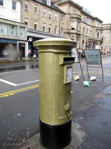 Gold Postbox - Hanover Street