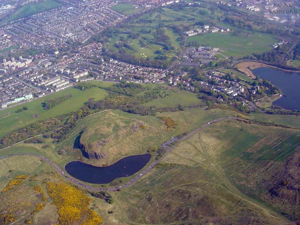 Aerial photo Arthur's seat