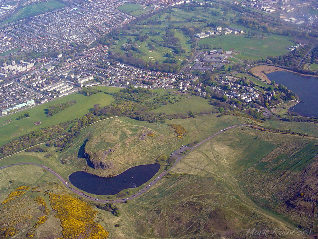 Aerial - Dunsapie Loch, Arthur's Seat