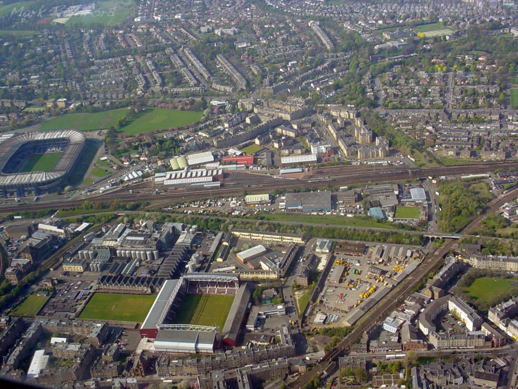 Aerial - Murrayfield & Tynecastle