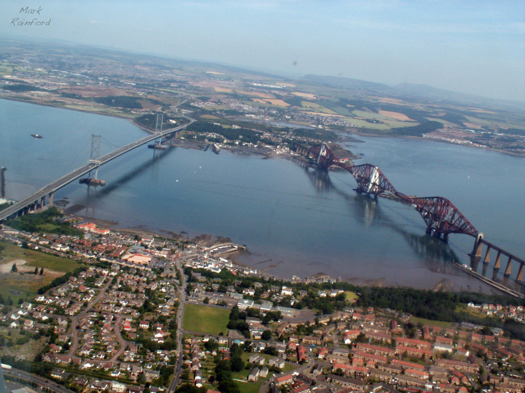 Aerial - Forth Bridges