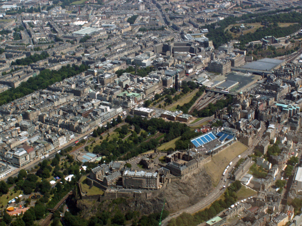 Aerial - Edinburgh Castle