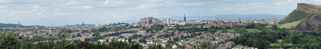 Edinburgh Skyline from Craigmillar castle