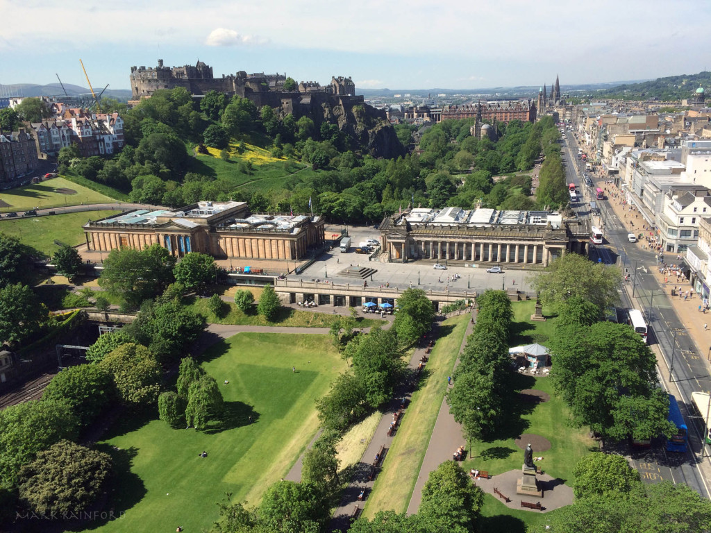 Edinburgh West From Scott Monument