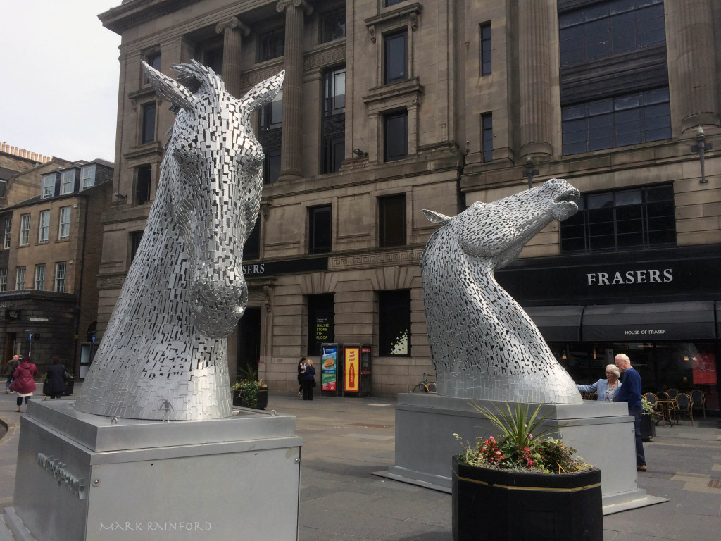 Mini kelpies, West end Princes Street