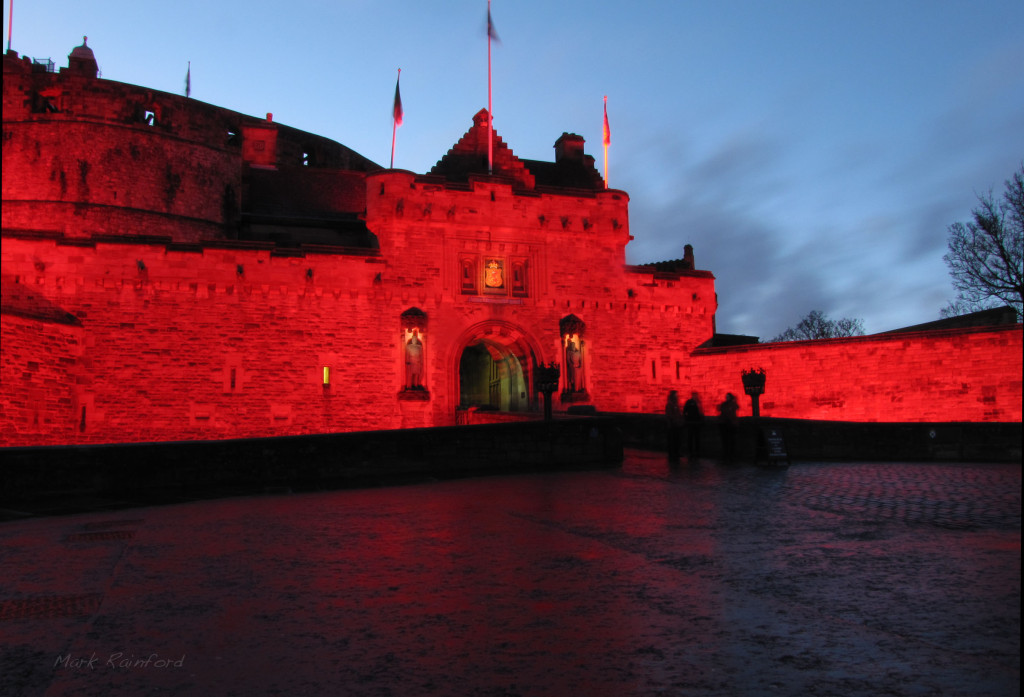 Red Edinburgh Castle