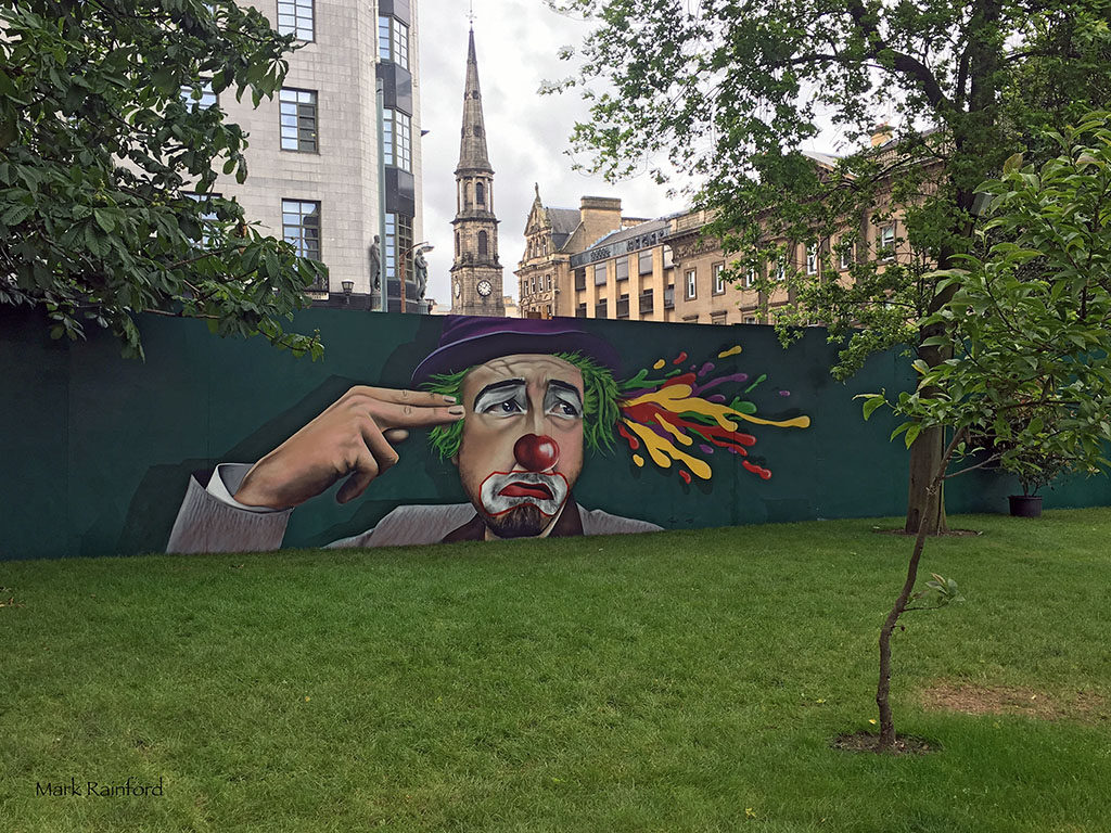 St Andrew Square, Art work - Edinburgh fringe 2016