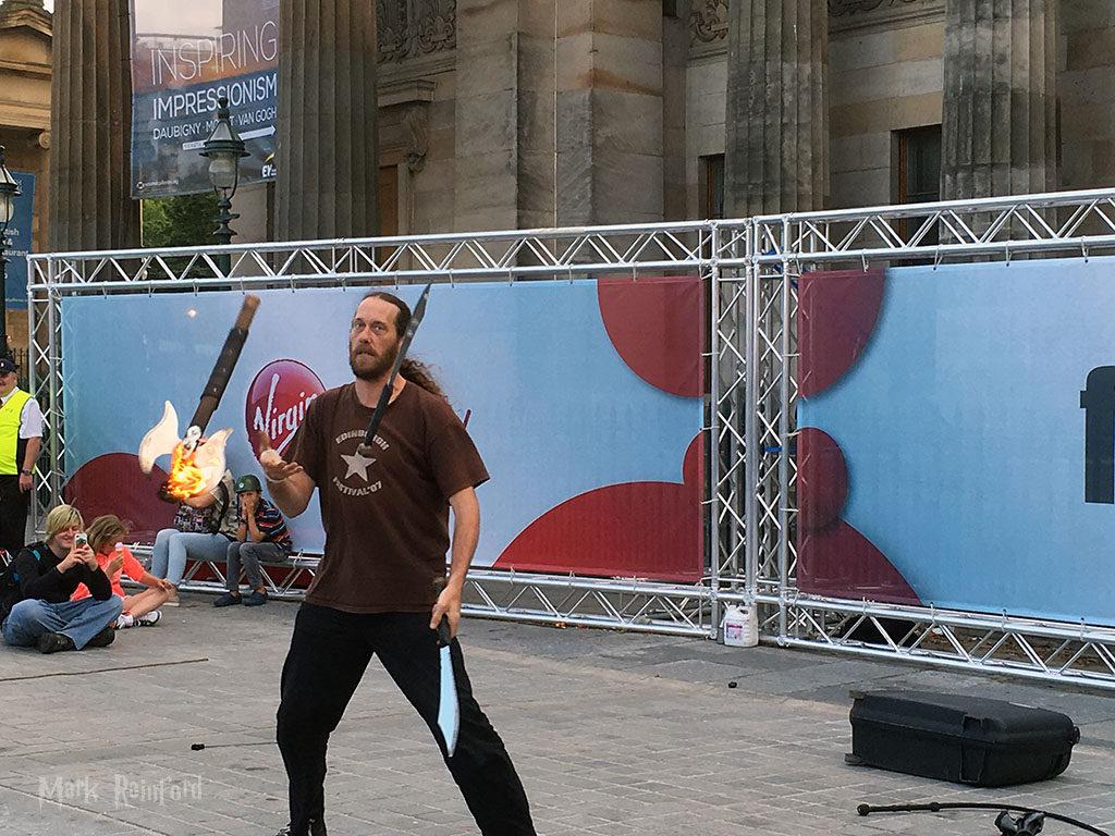 Edinburgh Festival 2016 - Axe Fire Juggler