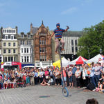 Edinburgh Festival 2016 - Unicycle Juggling Machetes