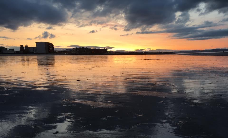 Portobello Beach Edinburgh Sunset