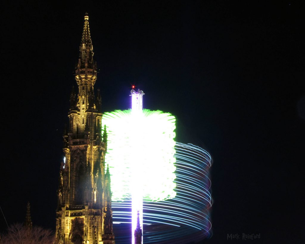 Edinburgh Christmas 2017 - The Scott Monument and the Sky Flyer