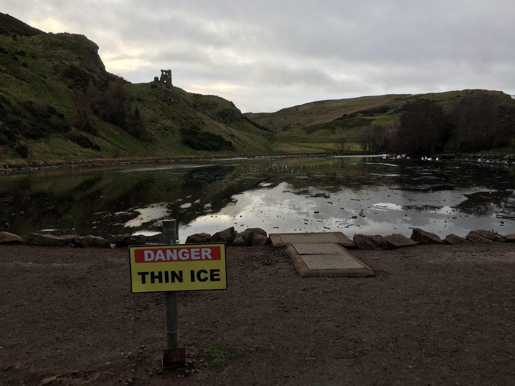 St Margaret's Loch Frozen