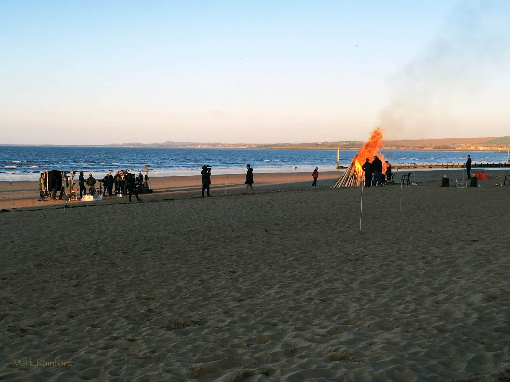 Filming at Portobello Beach