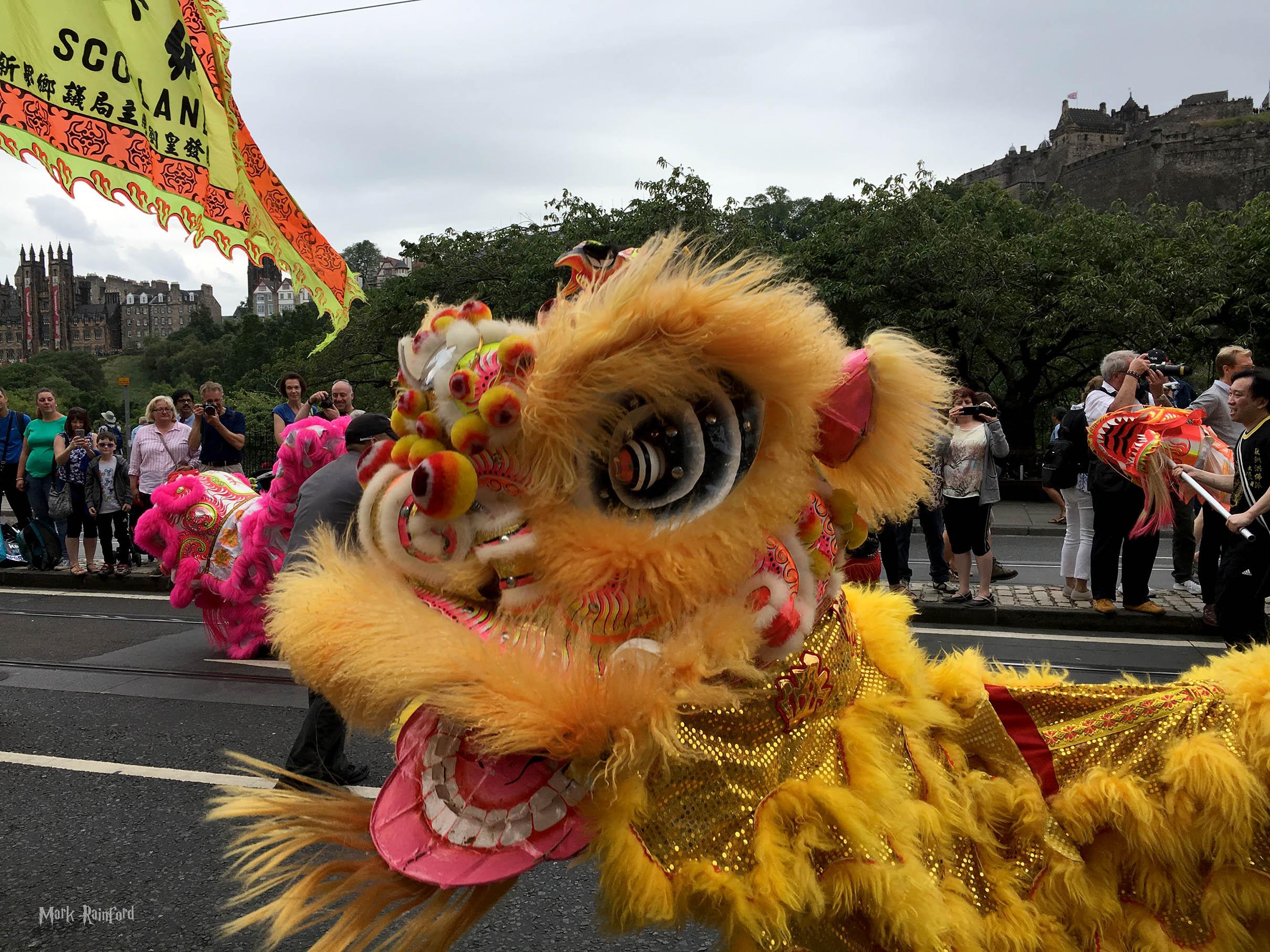 Edinburgh Festival Cavalcade 2018 Chinese Dragon