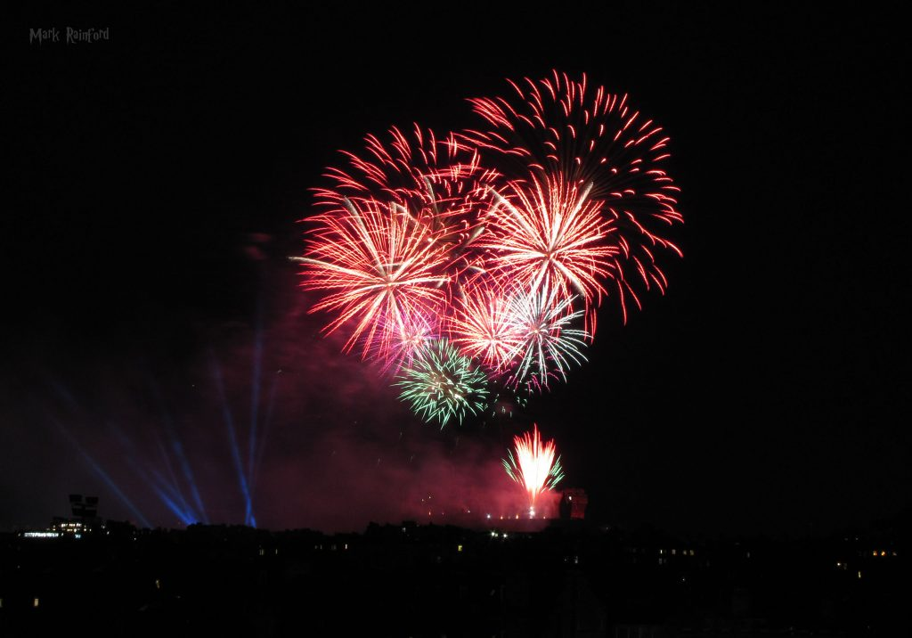 Edinburgh Virgin Money Fireworks Concert 2019 From Inverleith Park