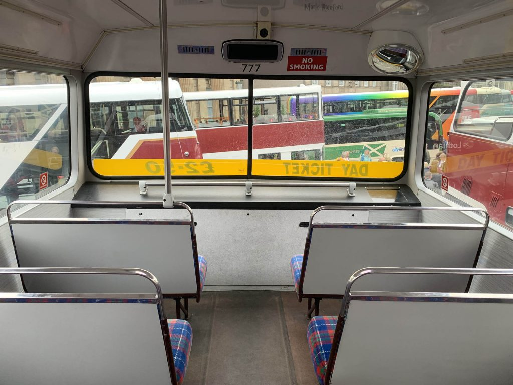 Lothian Buses Vintage Bus Inside Doors Open Day 2019