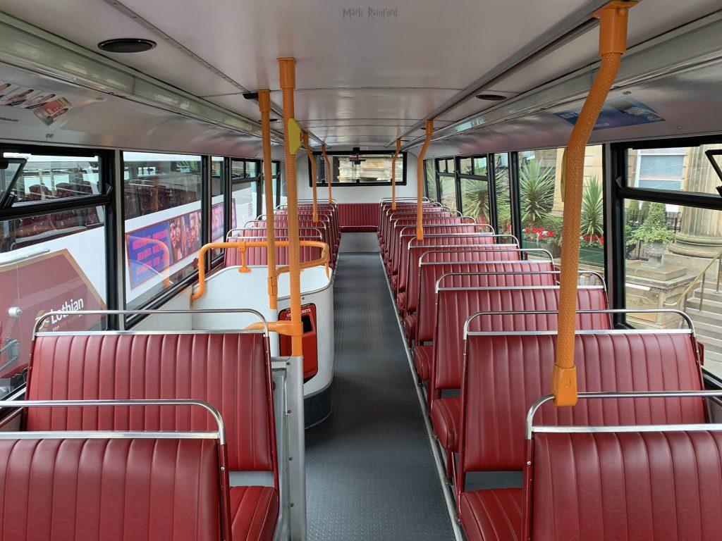Lothian Buses Vintage Bus Maroon Inside Backwards Doors Open Day 2019
