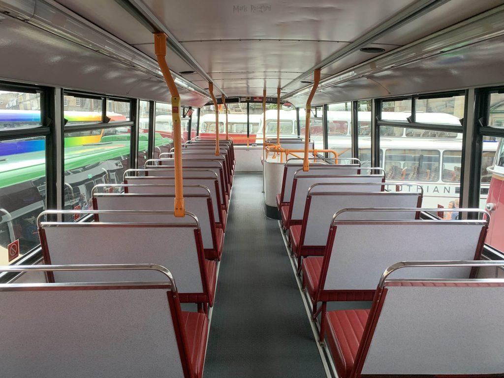 Lothian Buses Vintage Bus Maroon Inside Doors Open Day 2019