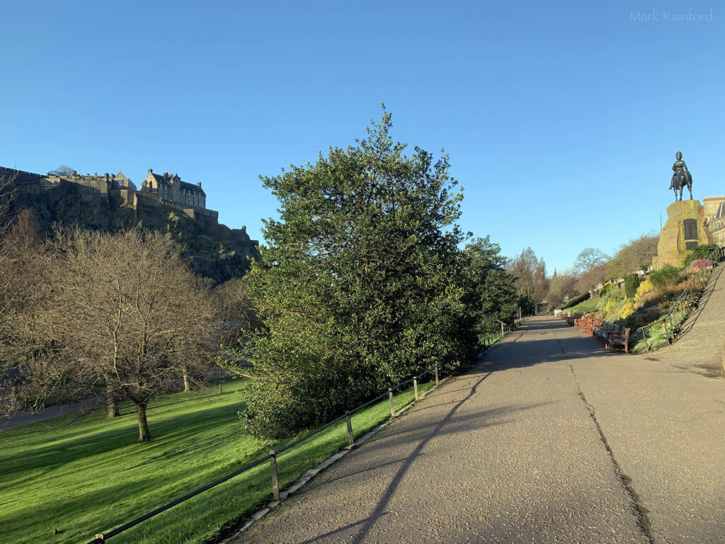 Edinburgh Covid 19 lock-down Princes Street Gardens