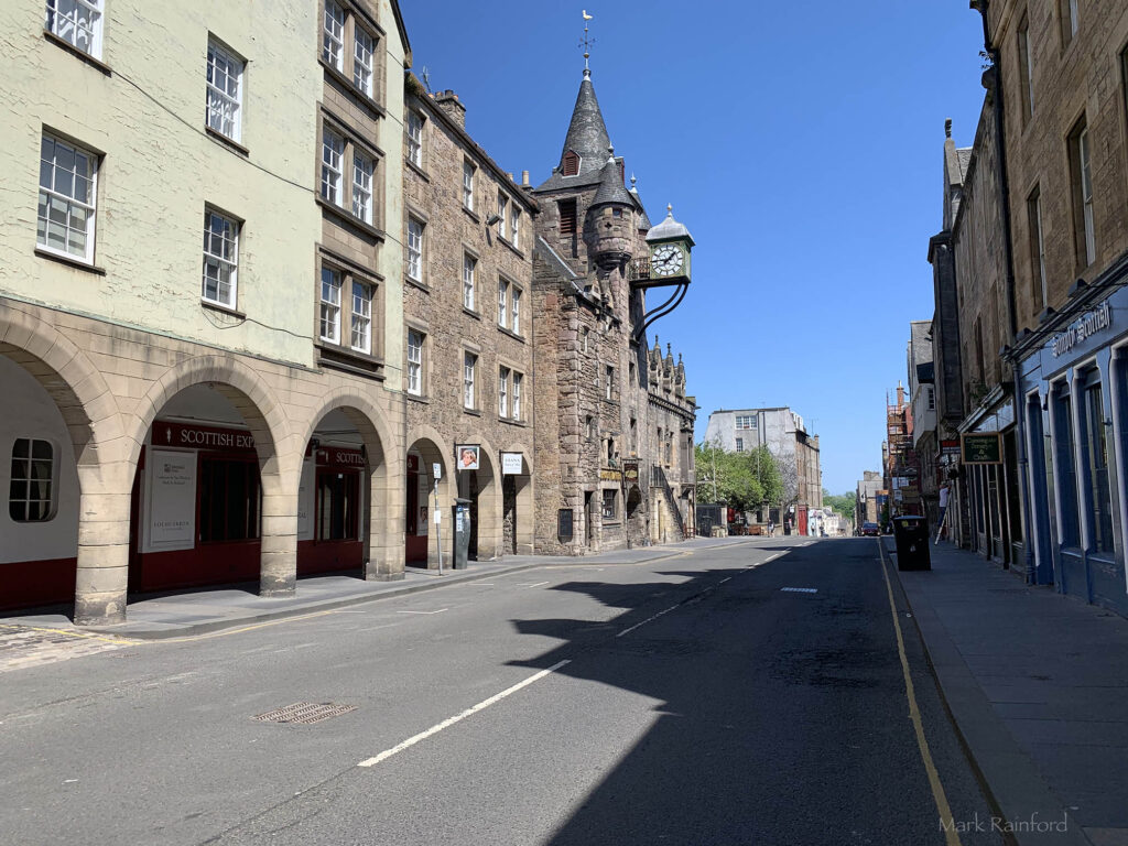 Edinburgh Covid 19 lock-down Canongate