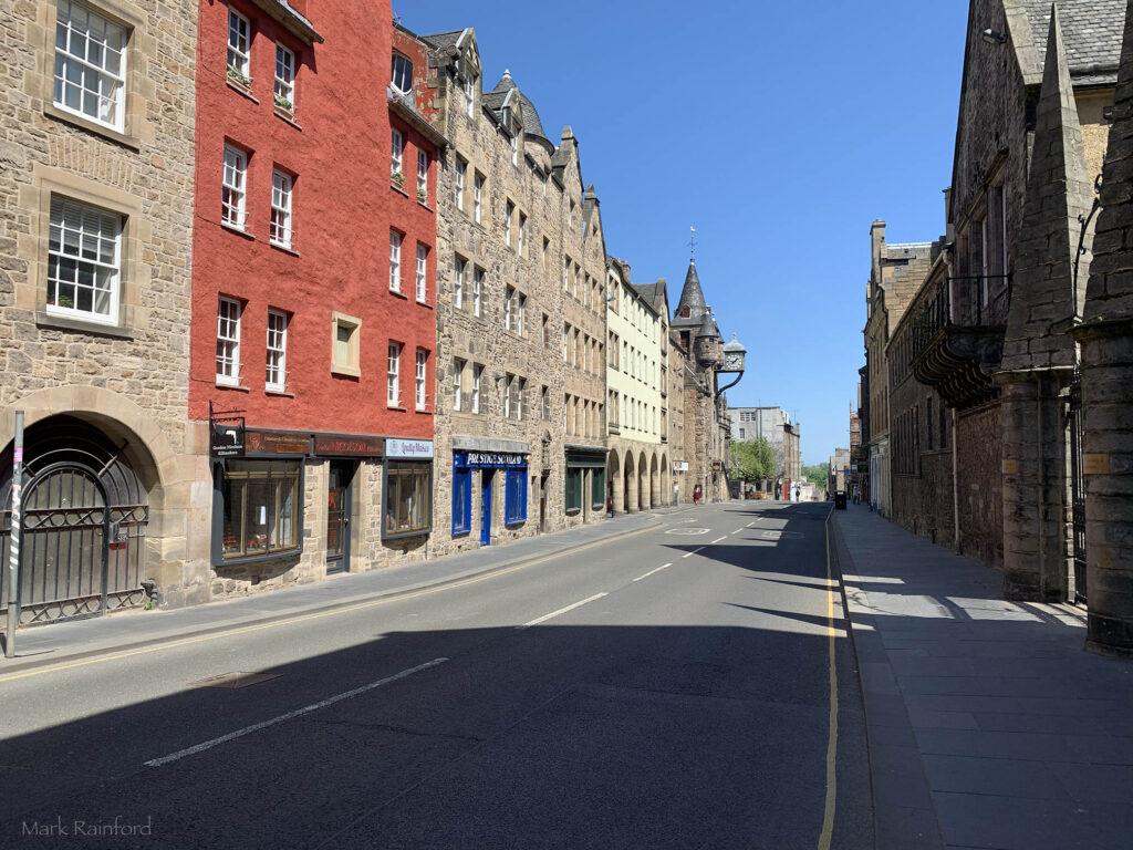 Edinburgh Covid 19 lock-down Canongate