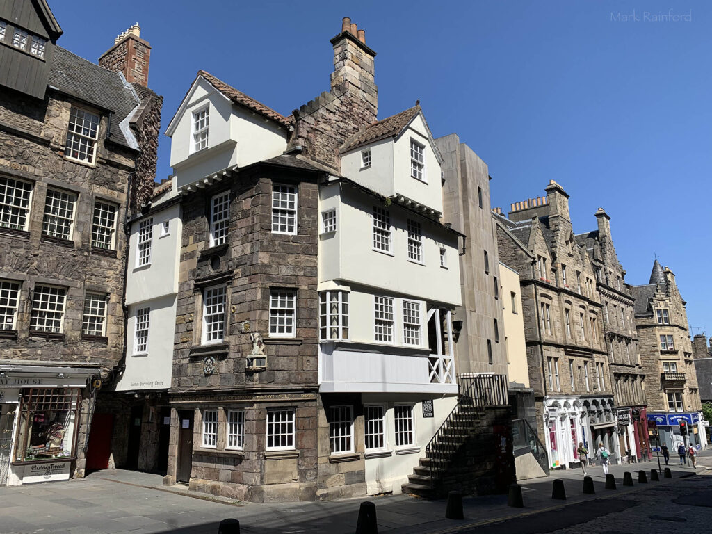 Edinburgh Covid 19 lock down John Knox House