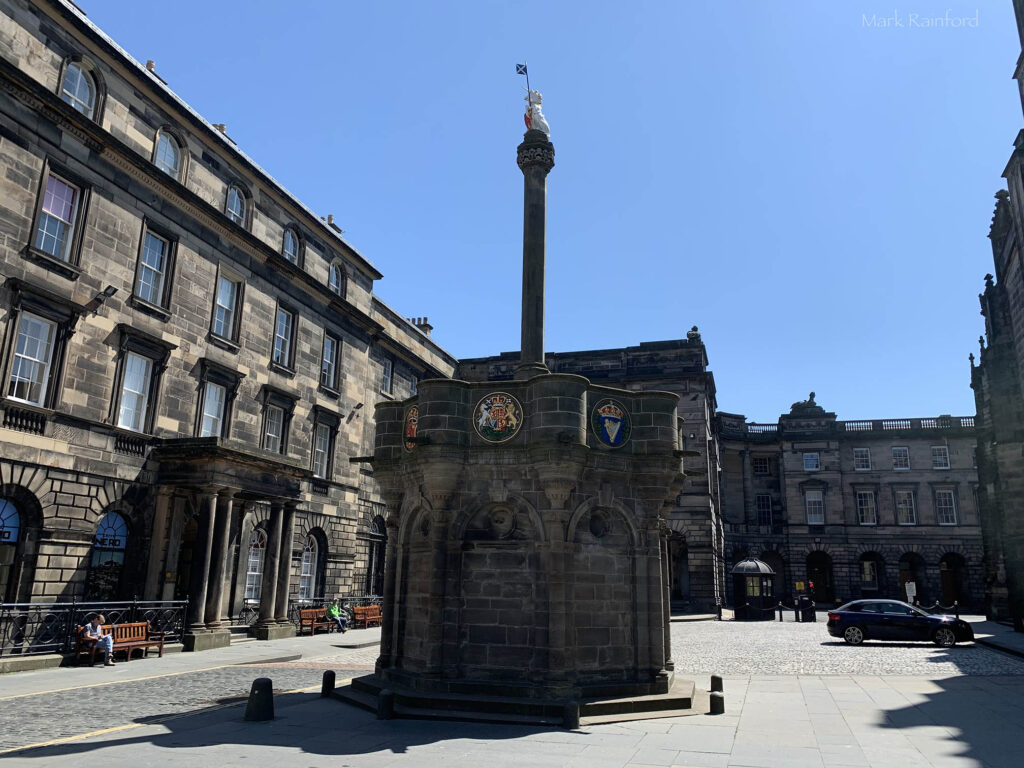 Edinburgh Covid 19 lock down Mercat Cross