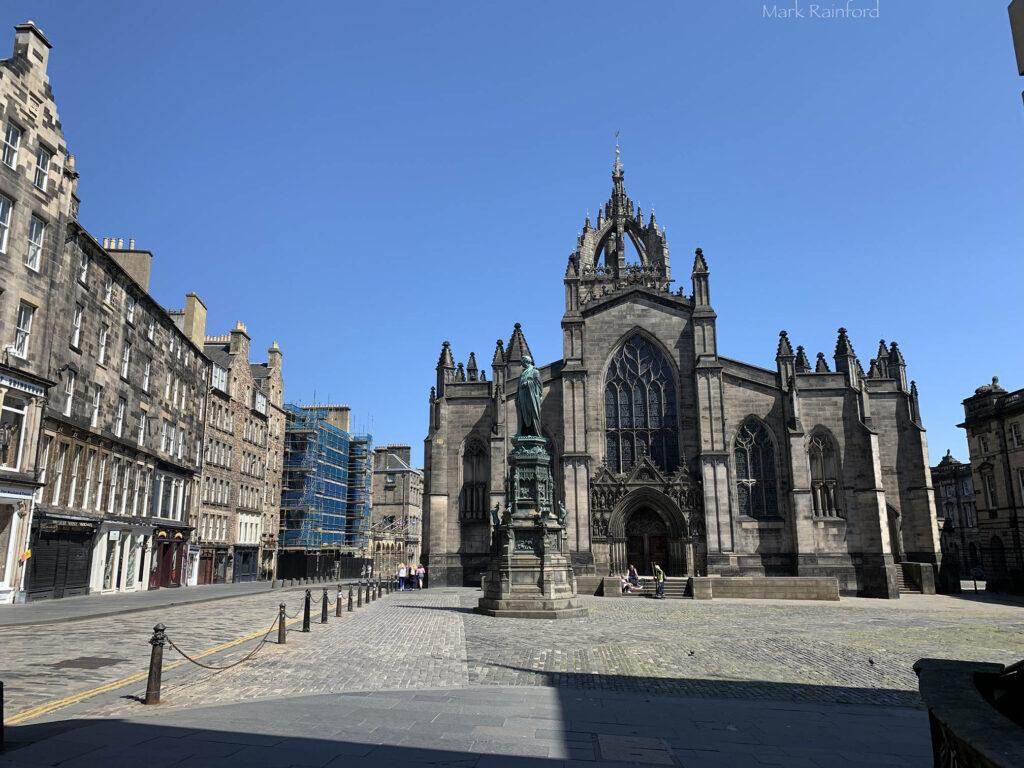 Edinburgh Covid 19 lock down St Giles' Cathedral
