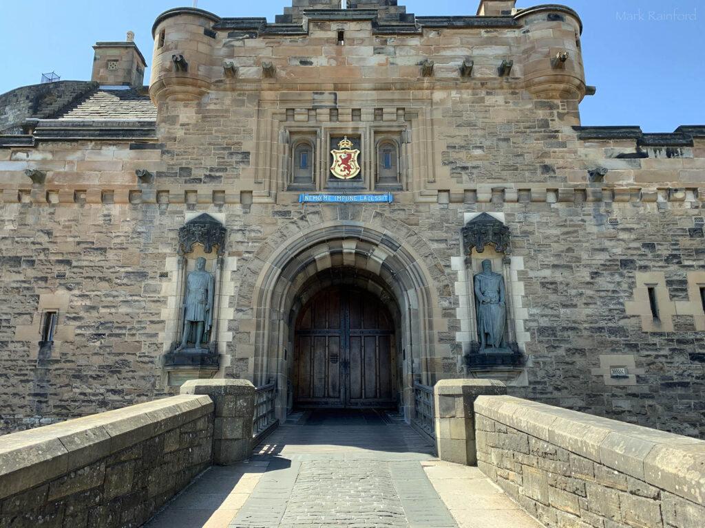 Edinburgh Covid 19 lock down The Caslte