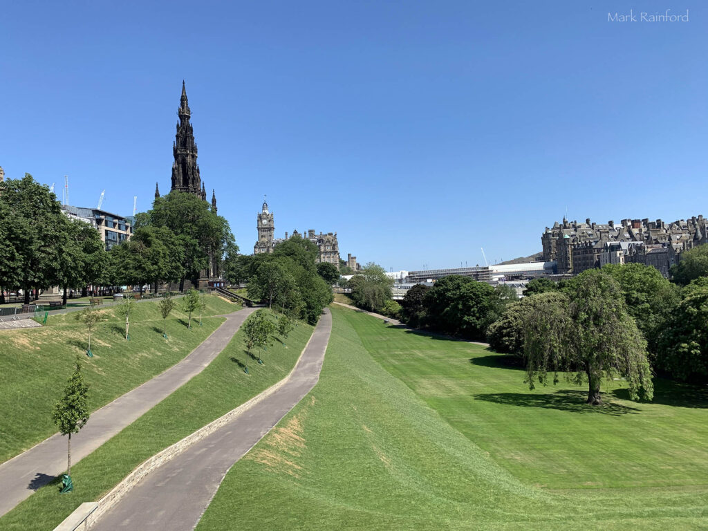 Edinburgh Covid 19 lock down Princes Street Gardens