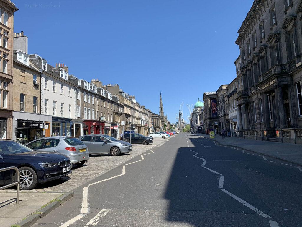 Edinburgh Covid 19 lock down George Street